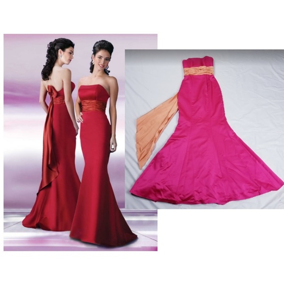 05f227fc41 DaVinci Dresses   Skirts - DaVinci Prom Bridesmaid Dress Mermaid Size 2  Satin
